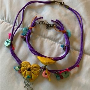 Handmade necklace set from Greece